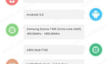 По слухам, характеристики Samsung Galaxy S6 попали в интернет
