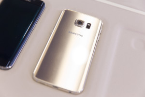 Серебряный Samsung Galaxy S6 Edge: задняя панель