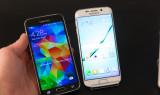 Черный и белый Samsung Galaxy S6 Edge