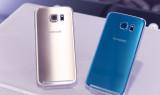 Серебрянный и голубой Samsung Galaxy S6