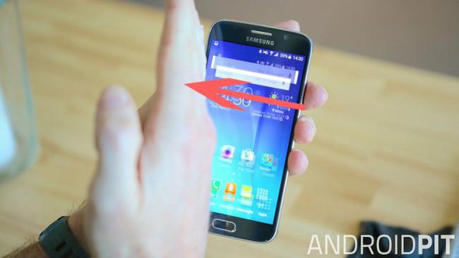 Как сделать скриншот на Samsung Galaxy S6 с помощью жеста